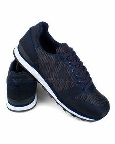 Zapatillas Armani hombre - Azul Grafito | Envio Gratis