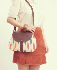 CHEVRON BAG. Leather Purse. Cross Body Strap Bag. Ready to Ship Bag.. $98.00, via Etsy.