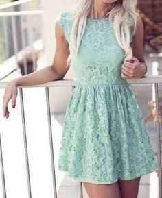 Lace mint dress love it. I really want to put this on the wall of my closet to remind myself of how much I love mine that has black lace over the mint color :)