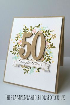Hello there, I have a card to share with you today using the Number of years Stamp and die bundle. This is one of the ca...