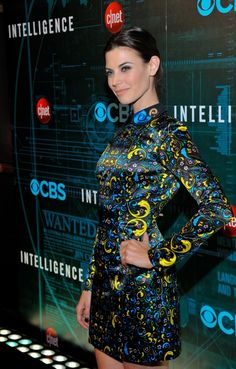 Meghan Ory (Riley Neal) poses for a photo at CNET's premiere party for Intelligence at the 2014 CES.