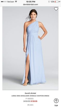 Bridesmaid dresses You ll love the feel of crinkle chiffon on this flowy  floor-length bridesmaid dress with a one-shoulder neckline and an elegant  skirt ... 36122cbd8af2