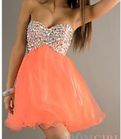 Cute homecoming dress.  Love the color.