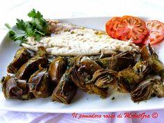 Il Pomodoro Rosso di MAntGra: Branzino al cartoccio con carciofi al forno - http://ilpomodororosso.blogspot.it/2015/01/branzino-al-cartoccio-con-carciofi-al.html
