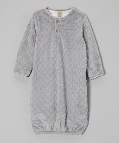 Another great find on #zulily! Silver Minky Dot Velour Gown by My Blankee #zulilyfinds