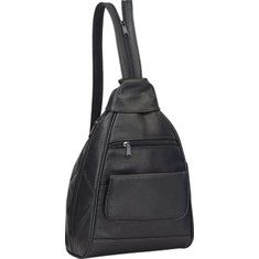 Preferred+Nation+P3650+Leather+Mini+Backpack+-+Black+with+FREE+Shipping+&+Exchanges.+This+casual,+mini+backpack+is+both+stylish+and+functional.+Made+with+supple