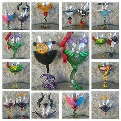 Disney vino vasos/hecho por pedido/Disney por TamaraRoseDesigns