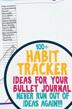 Over 100 ideas to track in your bullet journal habit trackers. Bullet journal ideas and inspiration for amazing habit trackers, always have something to track! Also features lovely habit tracker layouts from various artists for even more inspiration. #diy #bulletjournal #bujo #timemanagement #habittracker #bujoideas