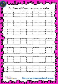 Cuaderno de preescritura y perfeccionamiento de caligrafía - Imagenes Educativas Tracing Sheets, Beige Nails, Tracing Worksheets, Pre Writing, Kids Education, Grade 1, Fine Motor, Handwriting, Activities For Kids