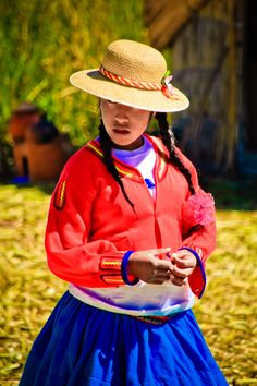 Peruvian Girl At Islas De Los Uros | Lake Titicaca | Peru | Photo By Helio Dias
