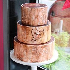 Woodsy Tree Wedding Cake #tubishvat
