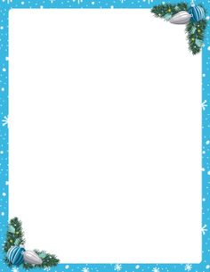 Free Blue Christmas Border Templates Including Printable Paper And Clip Art Versions File Formats Include Gif Jpg Pdf Png