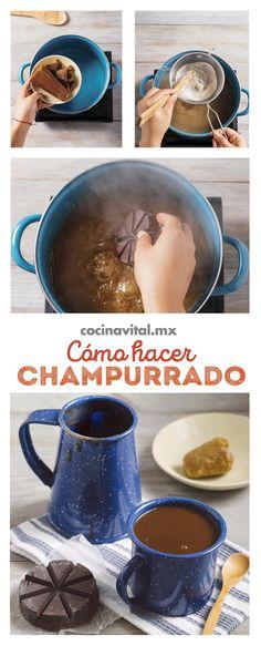 Esta receta de atole champurrado es completamente tradicional en México, es una delicia y por años las abuelitas nos han deleitado con esta exquisita bebidas, ¡ahora te toca a ti prepararla y consentir a la familia! Champurrado, Guatemalan Recipes, Kitchen Cooker, Tamales, Learn To Cook, Bon Appetit, Hot Chocolate, Mexican Food Recipes, Smoothies