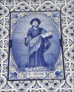 S. Tomé - Azulejo da Capela da Nossa Senhora das Febres