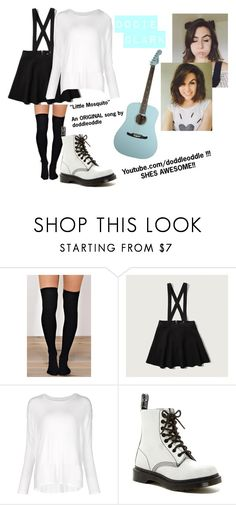 """Dodie Clark. Go SUBSCRIBE TO HER. her channel is In the {D}"" by mimmiviolet ❤ liked on Polyvore featuring Abercrombie & Fitch, Majestic Filatures and Dr. Martens"