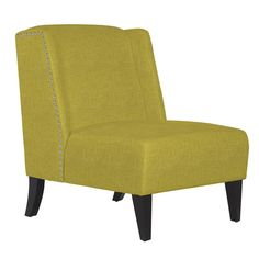 angelo:HOME Barton Green Bamboo Twill Armless Wingback Chair The angelo:HOME Barton armless wingback chair was designed by Angelo Surmelis. The comfortable Barton chair is covered in a green bamboo linen-like twill fabric with a pewter nail head trim. Today $259.00