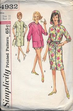 Simplicity Pattern 4932  Misses Coat-Dress  by TheLatestBloomer