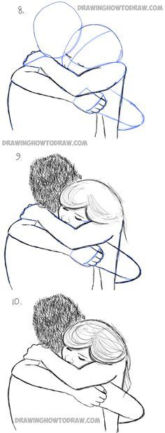 how to draw hugs in simple steps lesson drawing techniques How to Draw Two People Hugging : Drawing Hugs Step by Step Drawing Tutorial Pencil Drawing Tutorials, Pencil Art Drawings, Art Drawings Sketches, Easy Drawings, Art Tutorials, Horse Drawings, Drawings Of People Easy, How To Draw People, How To Draw Bodies