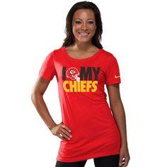 Nike Kansas City Chiefs Ladies Team Dedication Tri-blend Premium T-Shirt - Red