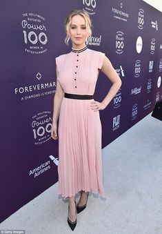 Elegant morning: Jennifer Lawrence was honored on Wednesday morning in Los Angeles. The a...