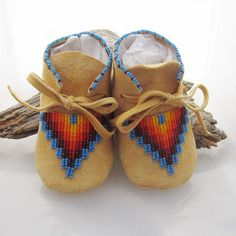 Native American Beaded Baby Moccasins made by AuthenticNativeMade, $58.00