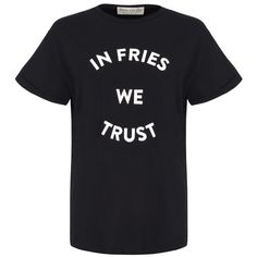 être cécile In Fries We Trust Oversize T-Shirt ($78) ❤ liked on Polyvore featuring tops, t-shirts, loose fit t shirts, oversized t shirt, oversized tee, reversible t shirts and crew-neck tee