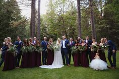 Burgundy, Navy, Greenery Wedding at Forest House Lodge in Foresthill Forest House Lodge, Mother Of The Bride, Bride Groom, Greenery, Burgundy, Bridesmaid Dresses, Parties, Bridal, Navy
