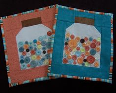 Midnight Creations: Quilted Button Jars