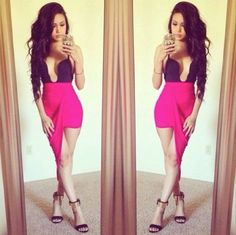how to wear hot pink skirts (27)