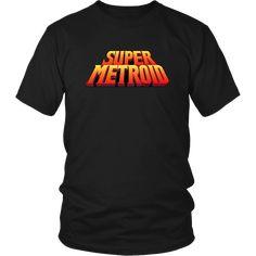 Retro Videos, Retro Video Games, Super Nintendo, Metroid Series, Metroid Prime, Super Metroid, Single Rib, Nes Classic, Unisex