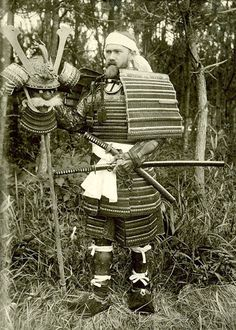 Dr. Bashford Dean (1867–1928) in Japanese Armor, ca. 1900.  A zoologist by training, and simultaneously a full professor at Columbia University, Curator of Fishes at the American Museum of Natural History, and Curator of Arms and Armor at the Metropolitan Museum were he worked initially as a guest curator in 1904, he installed and cataloged the Museums first significant acquisitions of arms and armor.
