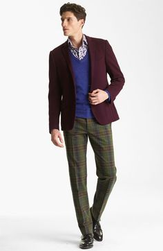 Etro Blazer, Sweater, Shirt & Trousers