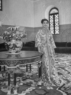 Lalla Fatima Zohra of Morocco #Princess #Caftan #Vintage