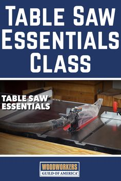 It's hard to imagine a woodworking shop that doesn't include a table saw. Whether you're rough cutting stock to size, taking it to its final dimensions, or doing the joinery required for your woodworking project, a table saw has you covered. This instructional video class provides you with must-have information for setting up and safely using your table saw.