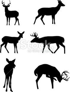 Deer Silhouettes Royalty Free Stock Vector Art Illustration