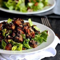 Mushroom & pecan salad