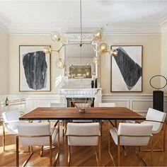 Fine dining. {via @eklundstockholmnewyork} #interiors