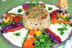 with vegetables ,salad and yoghurt.yummyrice with vegetables ,salad and yoghurt. Turkish Recipes, Ethnic Recipes, Vegetable Rice, Homemade Beauty Products, Salmon Burgers, Bon Appetit, Baby Food Recipes, Cobb Salad, Food And Drink