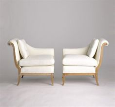 Danielle Tete-a-tete chairs by Jan Showers