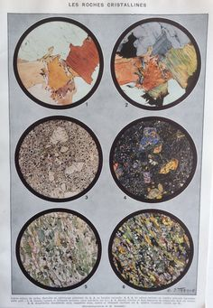 Vintage 1930s French Print Minerals Rocks by Thepapermuseum, $17.00