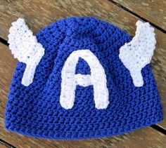 Captain America crochet hat pattern EASY all sizes - Instant Download