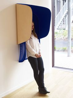 hut privacy alcove by antoine lesur + marc venot wins prix emile hermes Modern Interior, Interior Architecture, Interior Design, Office Dividers, Sound Sculpture, Office Pods, Acoustic Design, Open Office, Coworking Space
