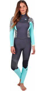 2016 Billabong Ladies Synergy 3/2mm Chest Zip Wetsuit in Geo Diamond Z43G02