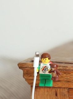 Lego figures make great cable holders!