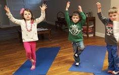 6 awesome yoga poses for children with special needs. Using yoga with children with autism helps them calm down, self-regulate emotions & get sensory input! Preschool Yoga, Dinosaur Theme Preschool, Dinosaur Activities, Preschool Classroom, Educational Activities, Preschool Ideas, Kids Yoga Poses, Yoga For Kids, Festa Jurassic Park