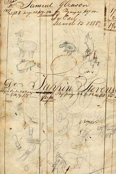 1817 Ledger. Found object on blog of Belle Brocante