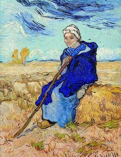 Van Gogh, The Shepherdess (after Millet), November 1889. Oil on canvas, 53 x 41.5 cm. Tel Aviv Museum of Art, Israel.
