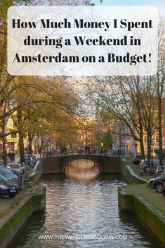 How Much Money I Spent during a Weekend in Amsterdam on a Budget!  Visiting Amsterdam doesn't have to cost you a lot of money. This is what I spent in total during my solo weekend in Amsterdam on a budget including staying in a hostel, transport and food! #amsterdam #budget #budgettravel #europeonabudget