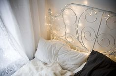 String Lights On Bed : For the Home on Pinterest Pastel Bedroom, Ikea Bed and Urban Outfitters