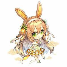 Cute Anime Chibi, Anime Girl Cute, Kawaii Chibi, Kawaii Anime Girl, Anime Art Girl, Oc Drawings, Cute Drawings, Alice Anime, Cute Animal Drawings Kawaii